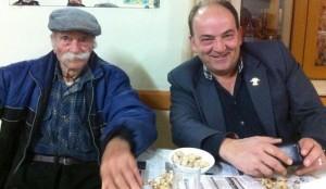 Ο Βασίλης με τον Μανώλη Μιχαλάκη