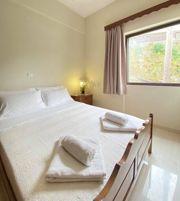 the bedroom of Patsos Escape eco hotel, Rethymnon Crete